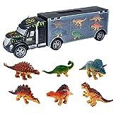 Zhen+ Spielzeugauto Sets, 13er Pack Fahrzeuge Geschenkse / 7er Pack Dinosaurier-Transporterfahrzeug Geschenkse,Auto Spielzeuge für Jungen und Mädchen ab 3 Jahren (B)