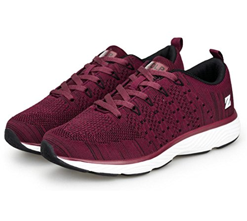 Men's Mixed Colors Zapatillas Breathable Running Shoes Wine Red