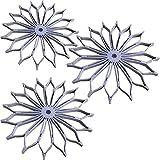 Durable plegable flor silicona mesa manteles individuales remachadora de cacerola, cabello Conjuntos de Holder greywhite