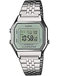 Casio Collection LA680WEA-7EF, Reloj con Luz LED para Mujer, Acero Inoxidable, Plateado