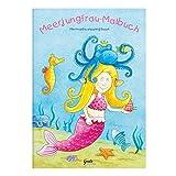Grätz Verlag Kinder lieben Ausmalen! - Malbuch Meerjungfrau mit Verschiedenen Wasser-/Unterwassermotiven und Meerestieren, mit Meerjungfrau usw., für Jungen und Mädchen ab 3 Jahren