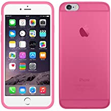TBOC® Funda de Gel TPU Rosa para Apple iPhone 6 / 6S (4.7 Pulgadas) de Silicona Ultrafina y Flexible