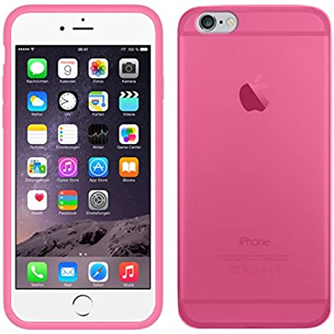 TBOC® Funda de Gel TPU Rosa para iPhone 6 Plus (5.5 Pulgadas) de Silicona Ultrafina y Flexible