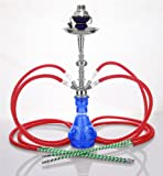 4 Manguera 58 cm Hookah Shisha Narguile agua tubo vidrio fumar venta H-1495