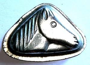 Antiquités-antique moule moule décoration-cheval, miniature (165)