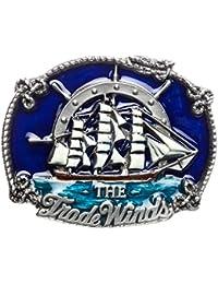 Hebilla Trade Winds, barco de vela, barca, Hebilla de cinturón