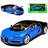 Welly Bugatti Chiron Coupe Blau Ab 2016 1/24 Modell Auto