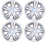 #6: Premium Quality Car Full Caps Silver 14inches Wheel Cover For - Maruti Suzuki Swift New