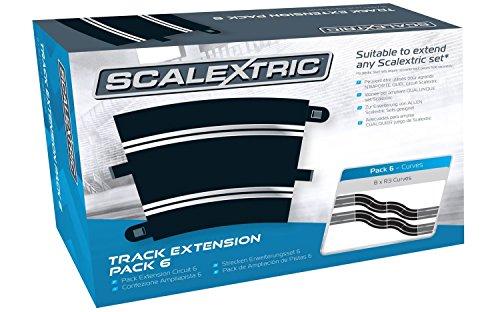 Scalextric 8555 - Erweiterungs Pack 6, 8 R3/45 Grad Kurve, Fahrzeug Analog Circuit Pack