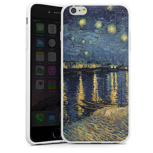 Apple iPhone 6 Silikon Hülle Case Schutzhülle Vincent Van Gogh Gemälde Kunst Silikon Case weiß