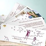 Einladungskarte Hochzeit, Sternenhimmel 200 Karten, Kartenfächer 210x80 inkl. weißer Umschläge, Lila