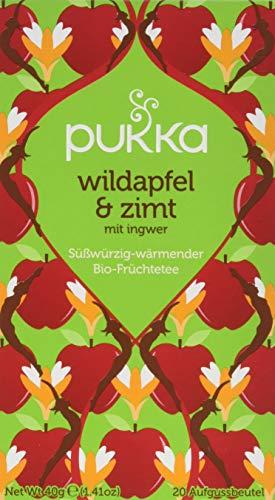 Pukka Bio-Tee Wildapfel & Zimt, 80 Teebeutel, 4er Pack (4 x 20 Stück) - Zimt-rinde-baum