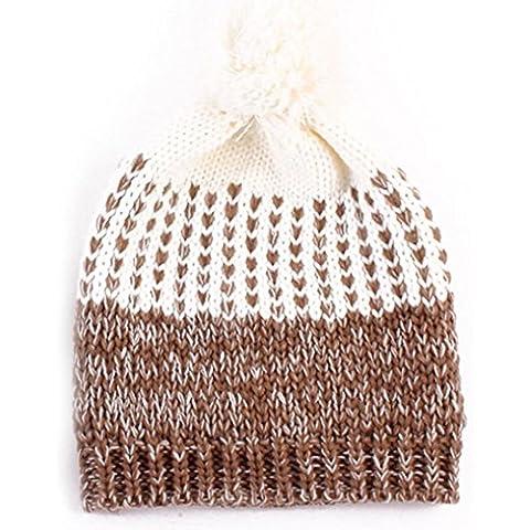 Tongshi Las mujeres forman Mantener caliente Sombreros de invierno de punto de lana sombrero Hemming