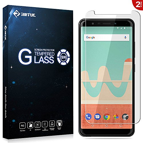 Wiko View Go Panzerglas, Wiko View Go Schutzfolie, RIFFUE Qualitäts Kristallklares 9H Gehärtetes Glas 3D Touch Kompatibler Screen Protector Tempered Glass Folie Film für Wiko View Go [2 Stück]