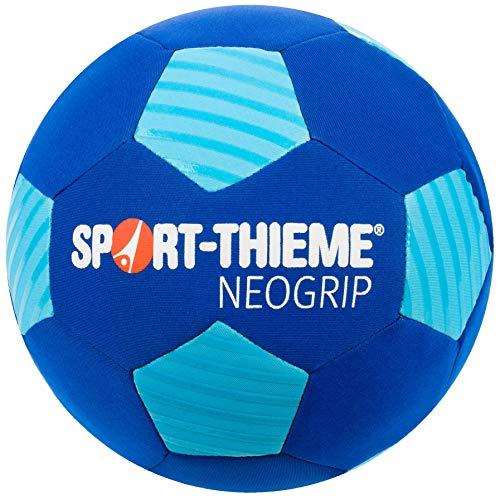Sport-Thieme Neopren Beachsoccer-Ball | Indoor u. Outdoor | Wasserabweisender Strand-Fußball u. Funball | Max. Griffigkeit u. Ballkontrolle | Blau | ø 22 cm | 300 g | Nadelventil, Ballblase -