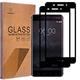 #8: [2-pack] Nokia Tempered Glass Black [Full Cover][Anti-Bubble] [Anti-Scratch] [HD Ultra Clear] [High-Tech]Screen Protector for Nokia 6 By Senyoo [Pro Screen Guard Seller]