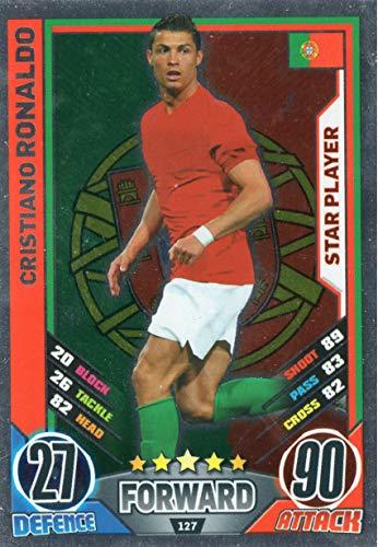 MATCH ATTAX ENGLAND 2012 - Cristiano Ronaldo Star Player Trading Card #127 - Euro 2012 England-match