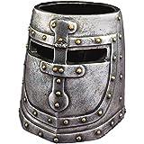 Design Toscano accessoire de bureau casque de chevalier du temple en deux tons