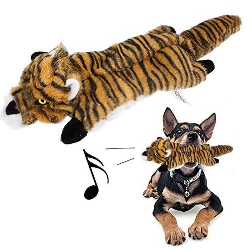 Umiwe Hund Quietschende Kauen Spielzeug, Hundespielzeug, Hunde Plüschtier, Welpenspielzeug, Hund Quietschende Plüschtier, Haustier Katzen Interaktive Spielzeug, Haustier Training Liefert (Tiger) -