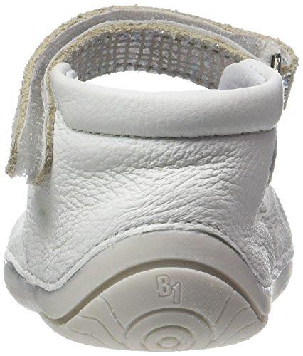 babybotte Baby Mädchen Zaela Krabbelschuhe Blanc (Blanc/Argent)