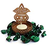 "JAIPURCRAFT Decorative Tea Light Candle Holder/Metal Candle Light Holder Table Candle Holders Spread Spirituality By Using Kalash Shadow Tea Light Holder For Home, Living Room (4"" X 3"")"