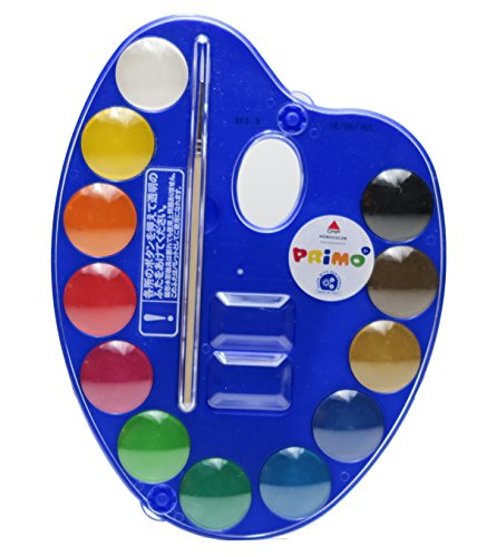 Primo tavolazza acquarelli 12 colori 25mm per scuola disegno, hobby