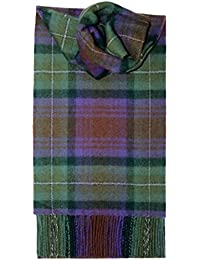 Brushed Lambswool Long Tartan Scarf - Premium Quality. Available in selection of Tartans