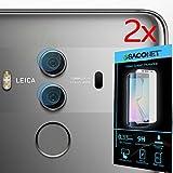 Huawei Mate 10 Pro 2x Protezione FOTOCAMERA Pellicola in Vetro Fibra di Carbonio Flessibile + Kit Pulizia, FFL x2