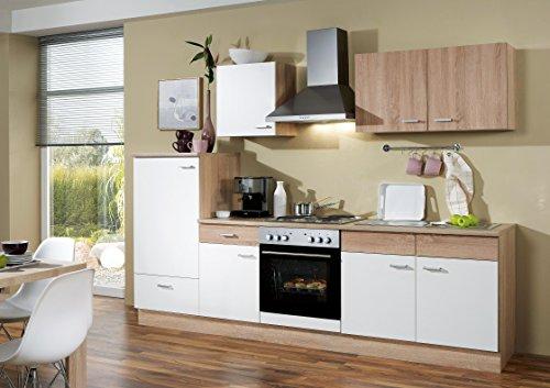 Avanti trendstore -cucina componibile, (l/p) 270x85x60cm - compresi gli elettrodomestici