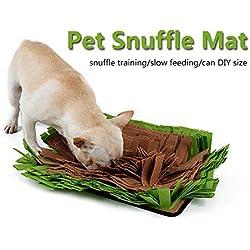Petneces Pet Snuffle Matte Hund & Katze Füttern Matten für Hunde Geruch Training Matte Stress Release nosework Decke