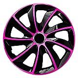 CM DESIGN STIG EXTRA Pink/Schwarz - 15 Zoll, passend für Fast alle VW z.B. für Touran 1T Automatik