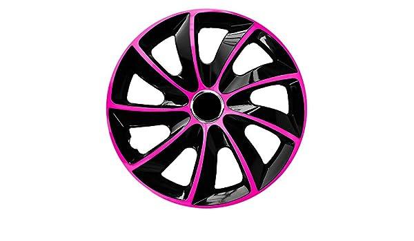 f/ür 107 passend f/ür Fast alle Peugeot z.B 14 Zoll CM DESIGN STIG EXTRA Pink//Schwarz