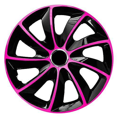 CM DESIGN STIG EXTRA Pink/Schwarz - 15 Zoll, passend für Fast alle Ford z.B. für Fiesta MK4 JAS JBS