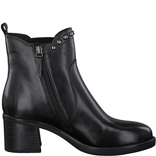 Tamaris 1-1-25923-39 Damen Stiefel, Stiefelette, Chelsea-Boot, Boot, Absatzschuh, Winterstiefel, Herbstschuh für die modebewusste Frau, funktionaler Reißverschluss Black