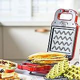 Red tide Household Egg Bubble Waffle Maker, Ferro da Stiro Antiaderenti Panino della Prima Colazione Creatore Lavora Pane Tostapane Tortilla Robot da Cucina,Rosso