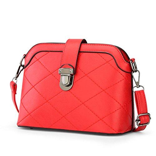 Valin S770 Damen 2018 Mode PU Schultertaschen,Umhängetaschen,24x18x10(BxHxT) Rot