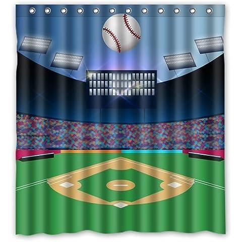 Generic personalizado béisbol deporte estadio serie diseño vendido por demasiado increíble cortina de ducha cortina de baño Decor (66