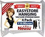 Neusu EasyStore Strong Hanging Vacuum Storage Bags, Long 145 cm, 4 Pack