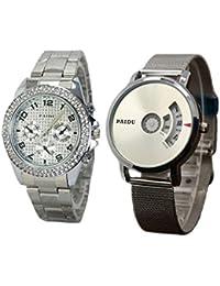Capture Fashion Paidu Silver Analog Watch - Pack of 2