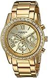 Akribos Xxiv donna svizzero quarzo Orologio braccialetto con cristalli Swarovski lunetta con quadrante color oro su acciaio INOX gold-tone AK943YG