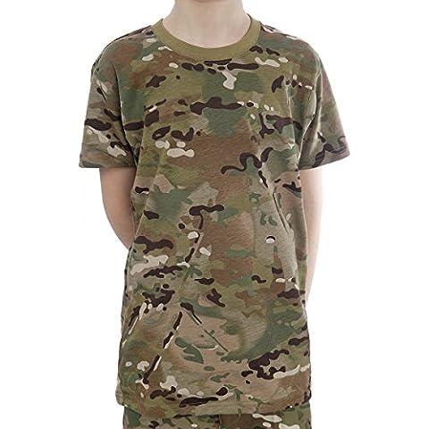 Infantil con forma de Army debe seleccionar un elemento algodón T-Shirt diseño de camuflaje - Diseño con espacio para varias en cualquier tipo de terreno diseño de camuflaje a partir de 3 - 12 años