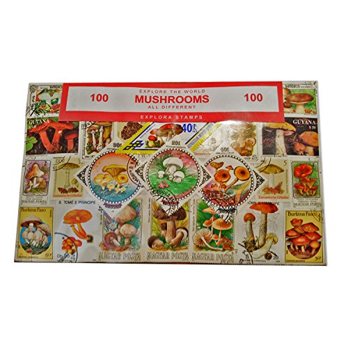 Worldwide Mushroom Funghi Stamp Collection Souvenir! Souvenir / Speicher / Memoria! Highly Collectable Stamps! All Different, 100 Distinct Stamps! Collectable Stamps from Around the World! Timbre / Stempel / Francobollo / Sello! by My London Souvenirs - Kunst London-themed