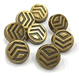 #6: Designer Imported Metal Button - pack of 6