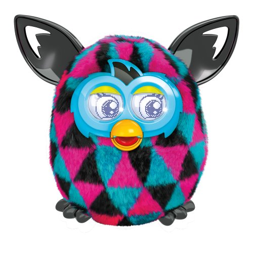 Furby Boom Sunny Electronic Plush Blue, Pink and Black Triangles