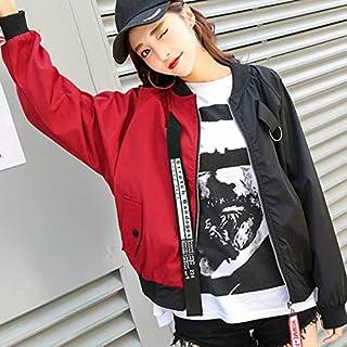 Yaoaoden College Wind Short Jacket Women New Korean Version Loose Casual Spring Autumn Harajuku Color Long-Sleeve Baseball Jacket