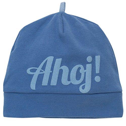 Pinokio -Sea World- Baby Mütze- Blau oder Hellblau Weiß gestreift mit AHOI -...