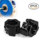 Mopalwin Barbell Clamp Collar 2 Pcs Olympic Weightlifting Barbell Lock Collar for Fitness Training - Black