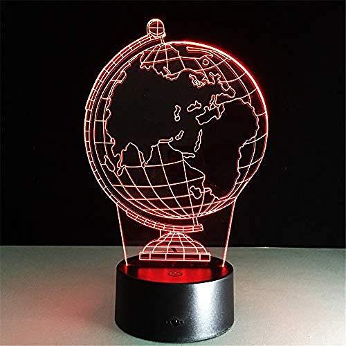 Luce Notturna Novità Globe 3D Nightlight 7 Colori Cambio Lampada Da Tavolo Usb Camera Da Letto Comodino Decor Regalo Sonno Strumenti Musicali Apparecchio Decorazioni Per Bamb