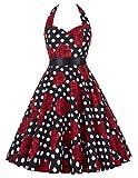 damenkleider festlich swing kleid tägliches kleid gartenfeste kleid friedensfest kleid oktoberfest kleid M