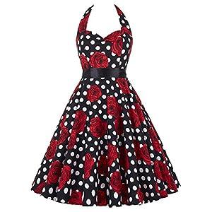 Grace Karin ES6075 – Vestido Vintage Cuello Halter Colores Elegibles Estilo Retro